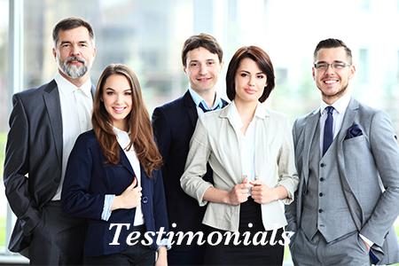 Corporate testimonials hero image